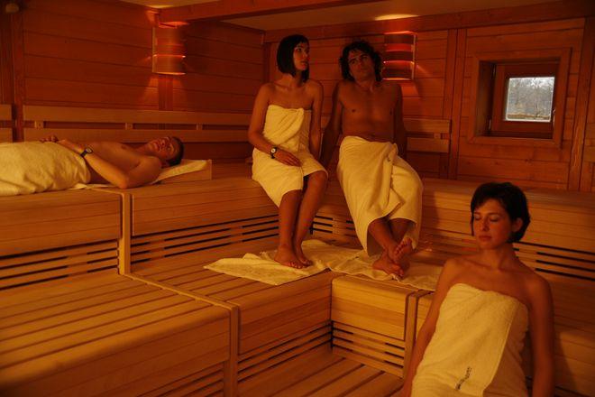 W saunie można się zrelaksować