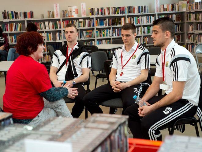 W projekcie brali udział m.in. piłkarze Śląska Wrocław