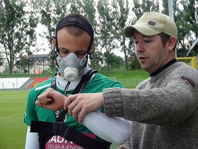 Kamil Dankowski w trakcie zajęć