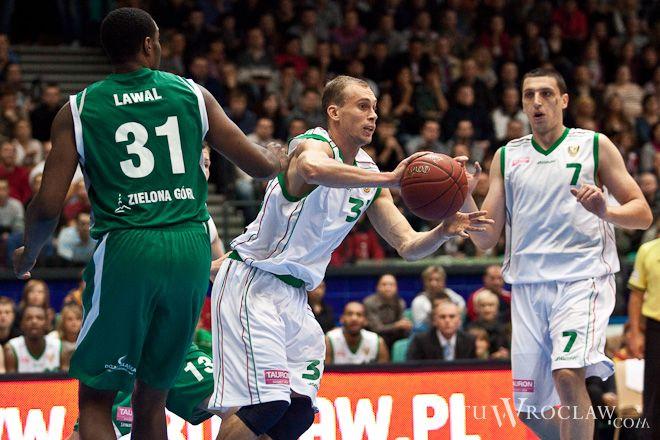Akselis Vairogs był najlepszym graczem Śląska w meczu z Anwilem Włocławek