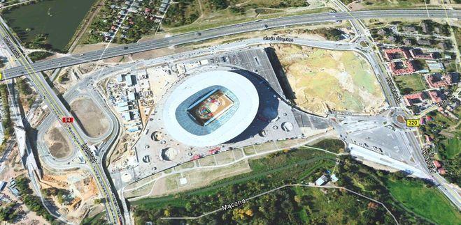 Widok stadionu z satelity