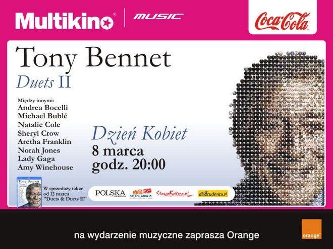 Koncert Tony'ego Benneta wrocławianki obejrzą w Multikinie w Dzień Kobiet