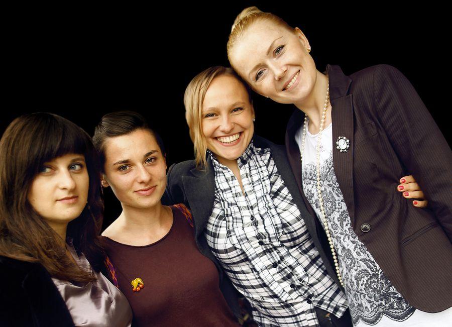 Animatorki transferu wiedzy i technologii, od lewej: Elżbieta Grodzka, Martyna Rzepecka, Elżbieta Mrozek, Karolina Kubas