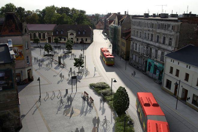 Rynek Psiego Pola, widok w kierunku alei Jana III Sobieskiego