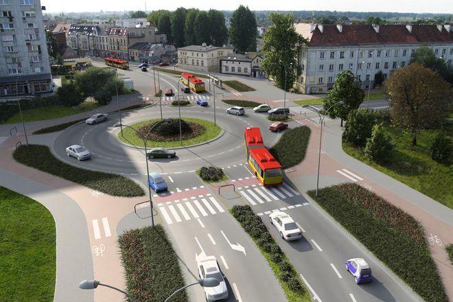 Tak ma wyglądać rondo na skrzyżowaniu ulic Krzyowustego z Kiełczowską i Bora-Komorowskiego