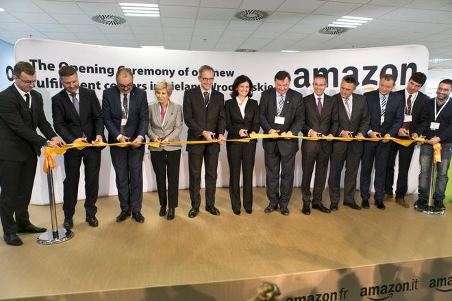 Uroczyste otwarcie centrów Amazona odbyło się we wtorek 28 października