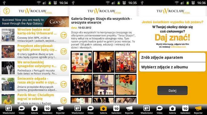 Dzięki aplikacji mobilnej będziesz mieć stały dostęp do news'ów, galerii i modułu ''reporter''