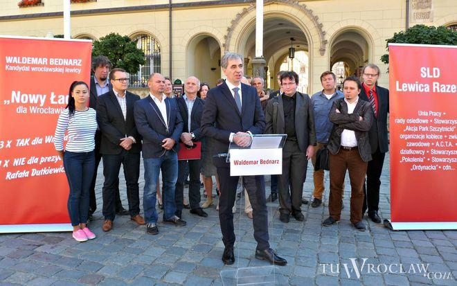 Waldemar Bednarz to kandydat lewicy na prezydenta Wrocławia