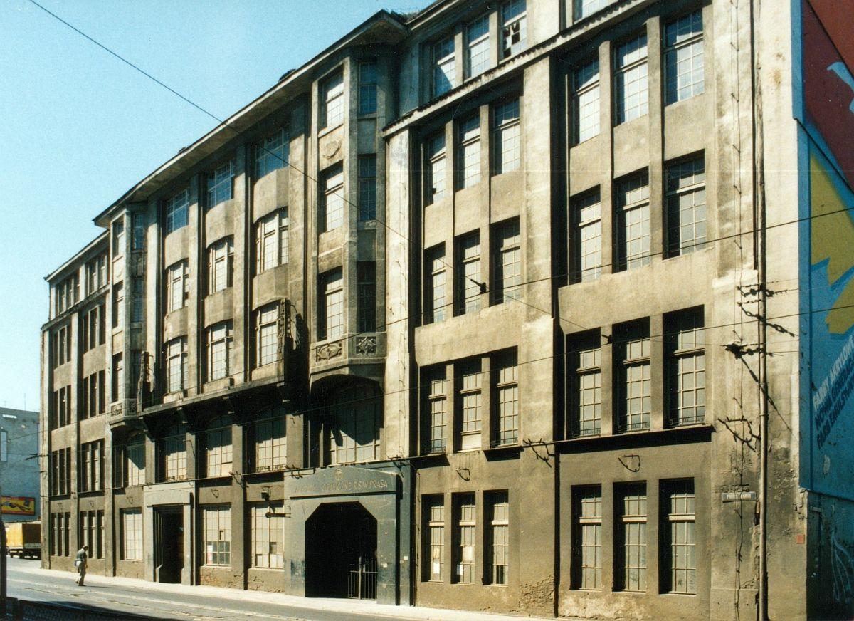 Główny budynek Zakładów Graficznych przy ul. Piotra Skargi został zburzony dawno temu.