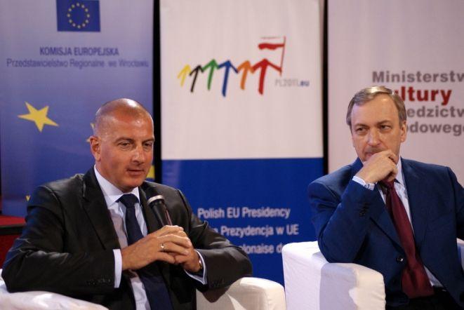 Rafał Dutkiewicz (z lewej) i Bogdan Zdrojewski