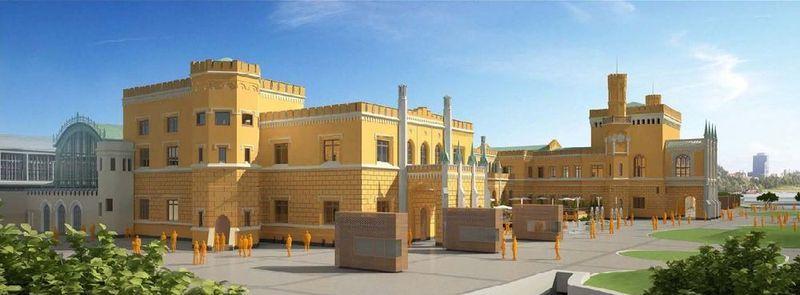 """Projektanci zaproponowali wersję żółtą elewacji, ale nie odpowiada ona do końca wymaganiom miejskiego konserwatora zabytków. Teraz czeka ich projektowanie od nowa """"w kierunku ugru""""..."""