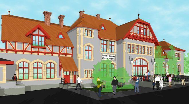 Tak od frontu dworzec na Brochowie będzie prezentował się po modernizacji już za rok