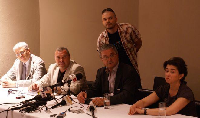 Na zdjęciu członkowie komisji: Jacek Purchla, Constatnin Chiriac, Andreas Wiesand, Joanna Kiliszek