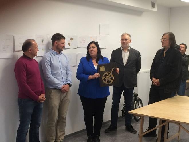 Posłanka Ewa Wolak otrzymała Pozytywną Korbę Rowerową