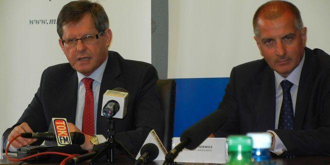 Minister Adam Giersz z prezydentem Rafałem Dutkiewiczem.