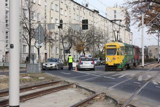 Przy Grabiszynku porządku pilnowała policja.