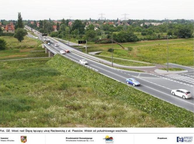 Tak miałby wyglądać most łączący ul. Racławicką z al. Piastów