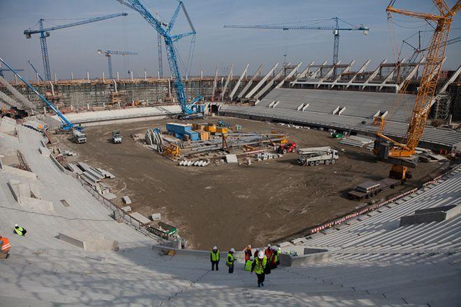 W połowie roku ma być gotowy stadion (zdjęcie z października)