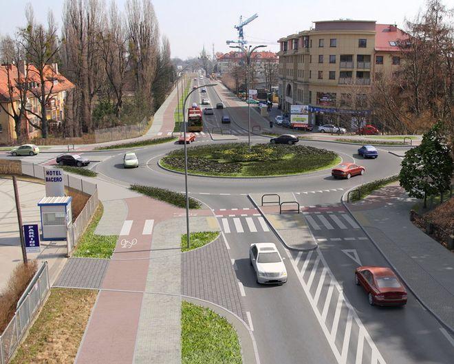Nowe rondo na skrzyżowaniu Zwycięskiej i Ołtaszyńskiej