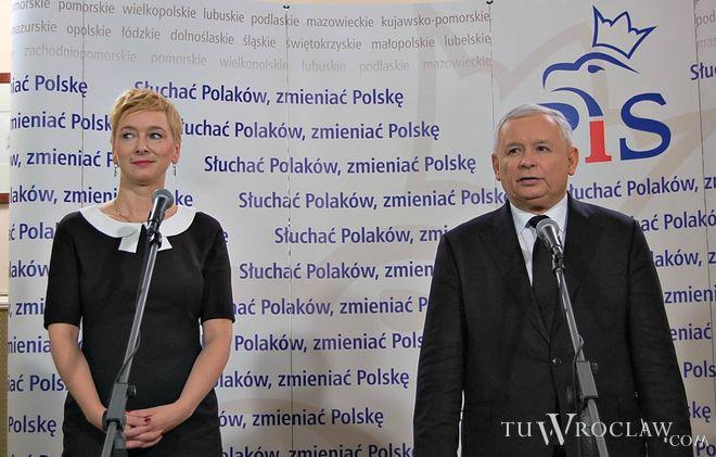 Jarosław Kaczyński przyjechał do Wrocławia, by poprzeć Mirosławę Stachowiak-Różecką