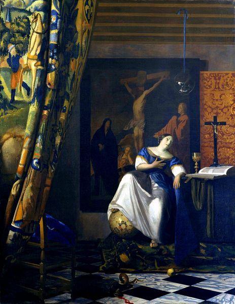 Alegoria katolicyzmu, Jan Vermeer