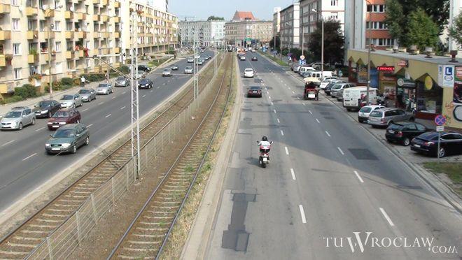 To właśnie ten odcinek ulicy Grabiszyńskiej jest w tej chwili remontowany