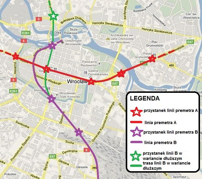 Taki układ tuneli tramwajowych proponują naukowcy z Politechniki Wrocławskiej.