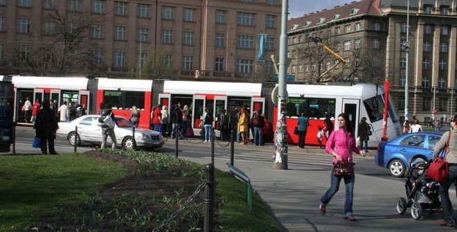 W Pradze jeżdżą praktycznie takie same tramwaje jak we Wrocławiu