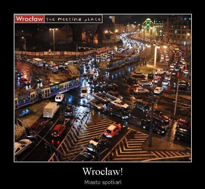 Wrocławskie korki już od dawna są przedmiotem kpin internautów