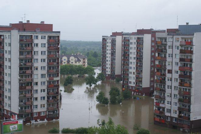 Tak w niedzielę okolo południa wyglądał rejon punktowców przy ul. Dokerskiej.