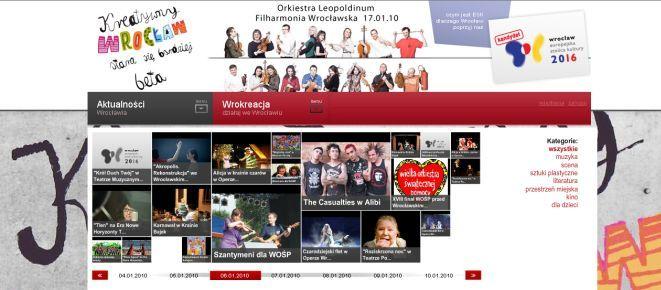 Główna strona nowego portalu.