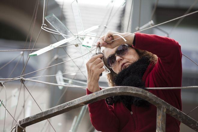 Ludwika Ogorzelec pracuje nad ''Zabłakaną chmurą''