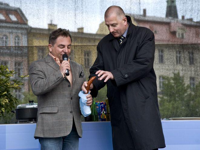 Robert Makłowicz i prezydent Wrocławia Rafał Dutkiewicz