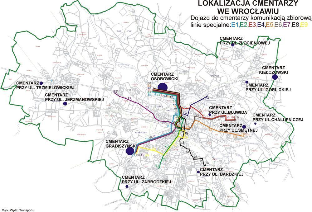 Trasy specjalnych linii tramwajowych