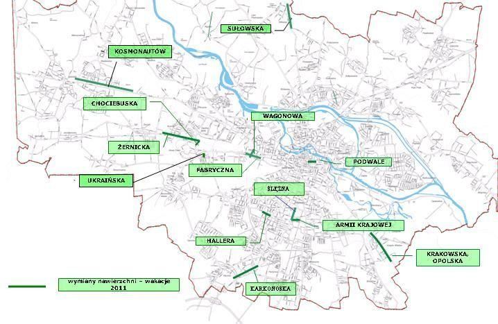 Zobacz, w których miejscach Wrocławia podczas wakacji będzie remontowana nawierzchnia ulic.