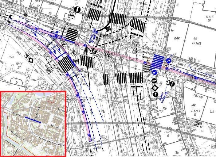 Na skrzyżowaniu Ruskiej i Kazimierza Wielkiego tylko rowery będą mogły jechać na wprost.