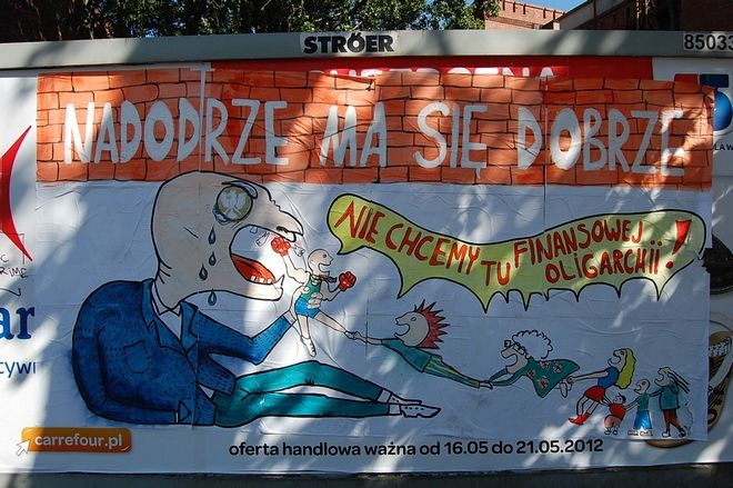 Taki plakat od kilku dni wisi na wrocławskim Nadodrzu