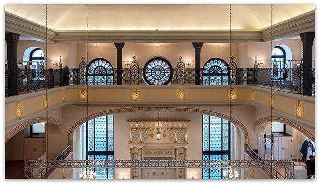 Wyremontowane wnętrze synagogi