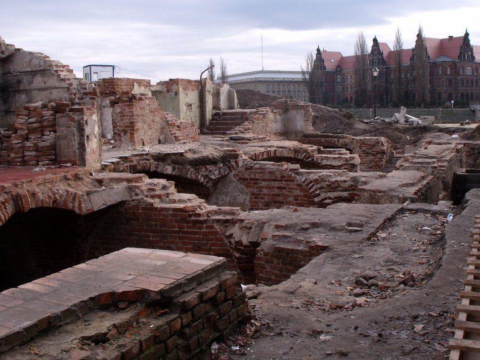 Odkryte ruiny alumnatu