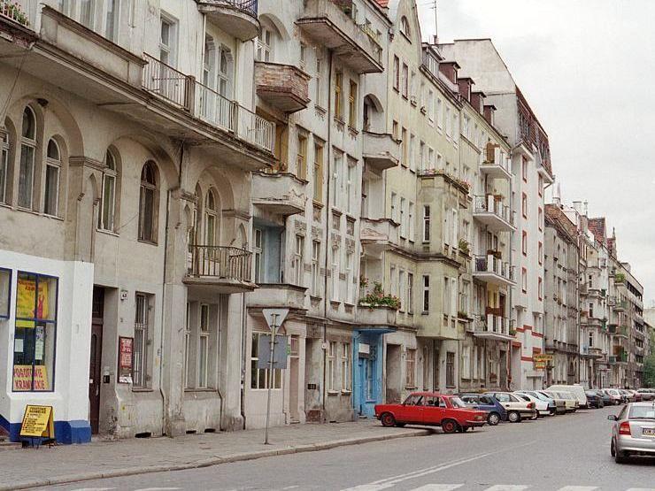 Zachowany fragment ulicy Lwowskiej