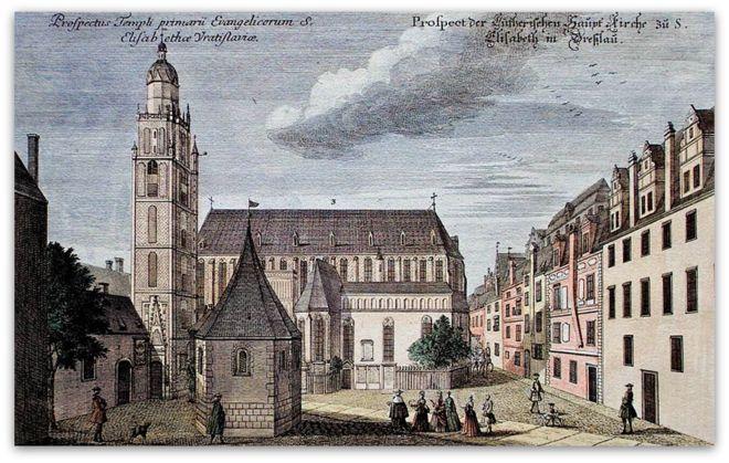 Plac św. Elżbiety XVIII wiek