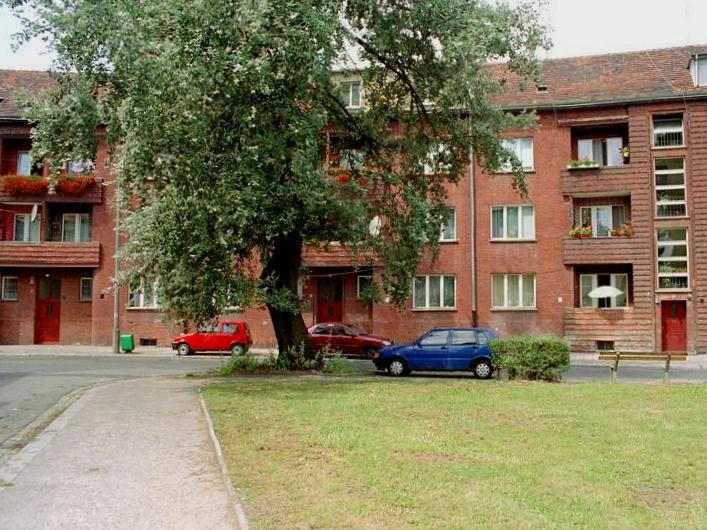 Ulica Słubicka, widok z ulicy Szprotawskiej