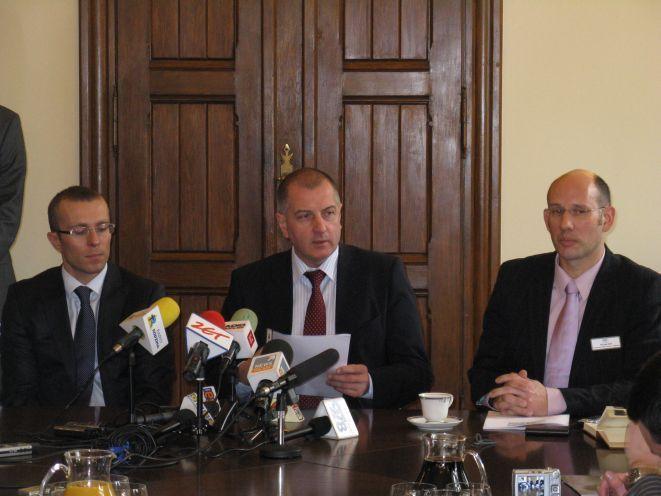 Michał Janicki, Rafał Dutkiewicz i Michael Brill.