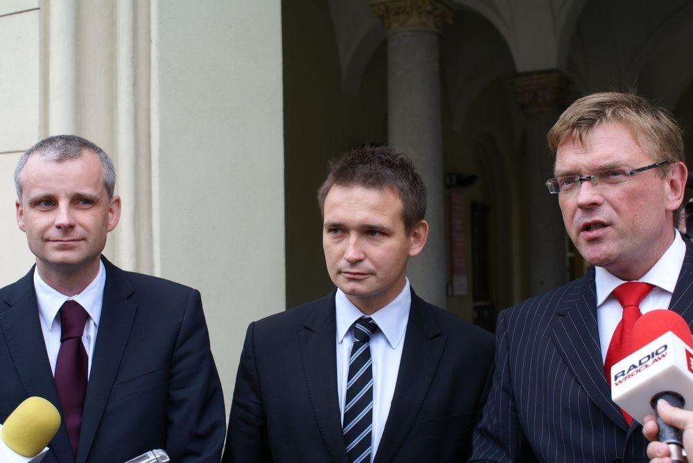 Od lewej: Piotr Babiarz, Michał Jaros i Tomasz Czajkowski