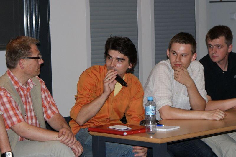 Nasi paneliści (od lewej): Tadeusz Zdankiewicz, Paweł Andrzejczuk, Łukasz Maślanka i Michał Zastawny