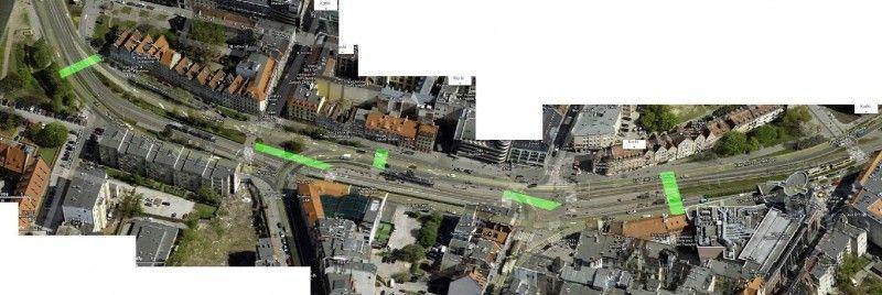 Proponowane przez TUMW przejścia dla pieszych w obszarze trasy WZ i Nowego Światu