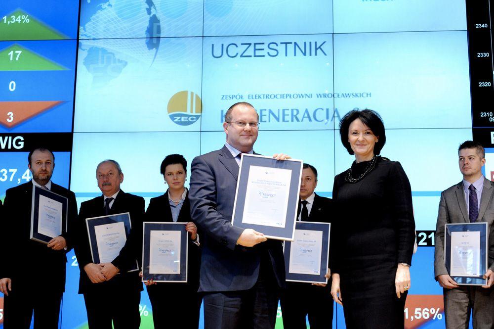 Wrocławska Kogeneracja jest jedną z czterech nowych spółek notowanych w Respect Index