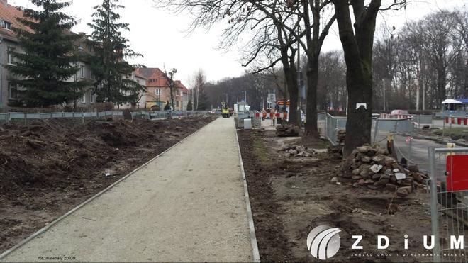 Nowa droga rowerowa na ulicy Mickiewicza będzie gotowa w kwietniu