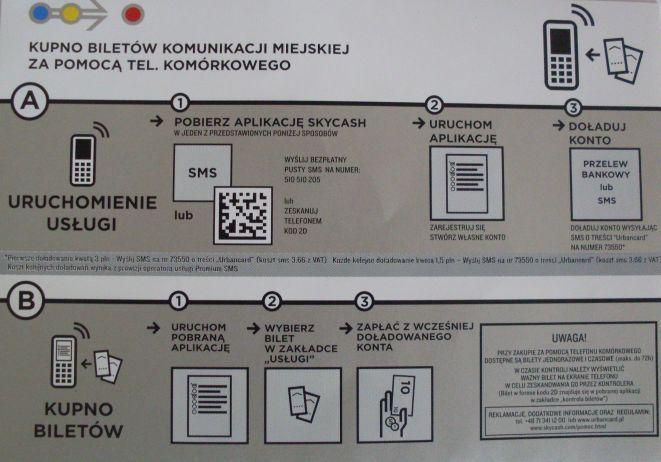 Naklejki informujące jak zakupić bilet przez komórkę dostępne są już we wrocławskiej komunikacji.