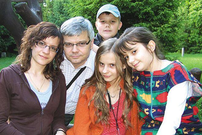 Sławomir Bralewski z rodziną.
